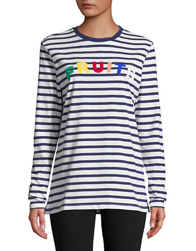 Etre Cecile Fruits Long Sleeve Tee-BLUE-Small