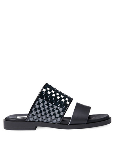 Miista Amanda Reflective Slide Sandals-BLACK-EUR 37/US 7