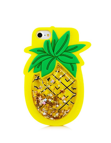 Skinnydip iPhone 6, 6S, and 7 Pineapple Silicone Case-MULTI-One Size