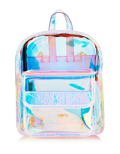 Skinnydip Clear Holographic Backpack-MULTI-One Size