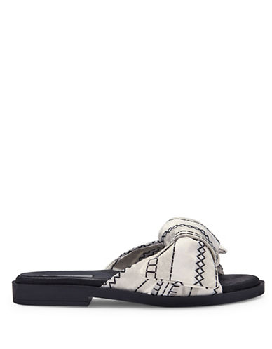 Miista Valerie Bow Slide Sandals-WHITE-EUR 36/US 6