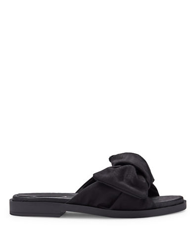 Miista Valerie Bow Slide Sandals-BLACK-EUR 37/US 7