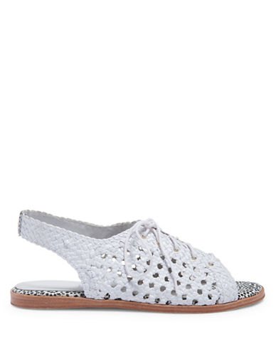 Miista Rania Woven Leather Flat Sandals-WHITE-EUR 37/US 7