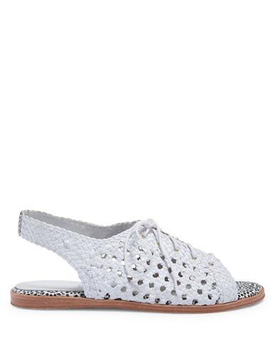 Miista Rania Woven Leather Flat Sandals-WHITE-EUR 39/US 9