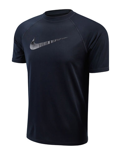 Nike Hydro UV Liquid Swoosh Short Sleeve T-Shirt-BLACK-Large 88502208_BLACK_Large