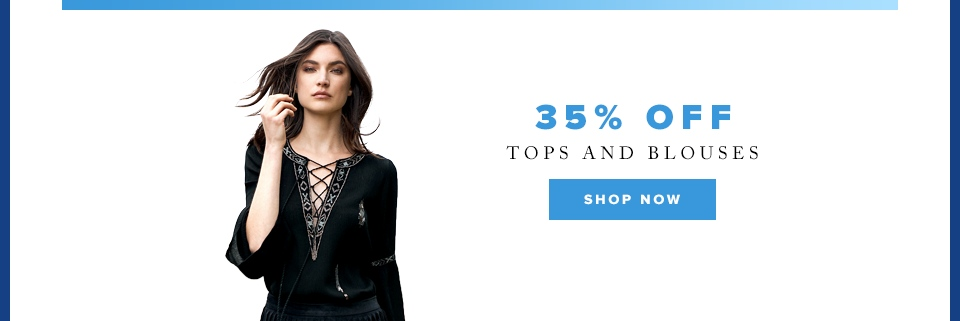 Cyber Week: 35% off tops and blouses