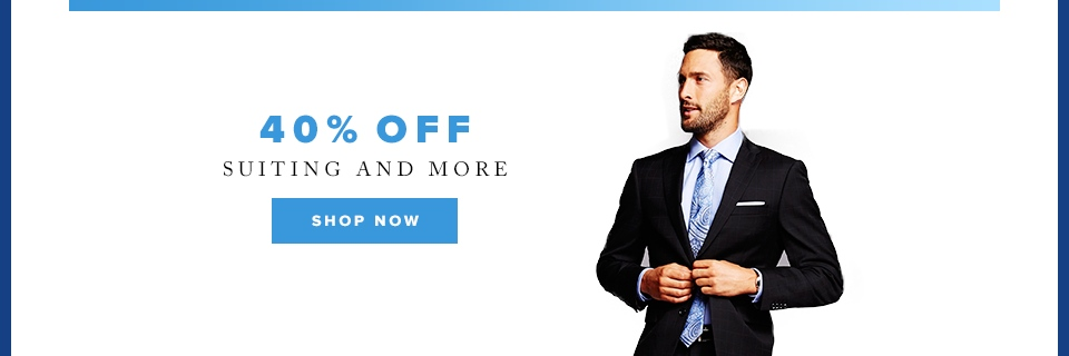 Cyber Week: 40% off suits