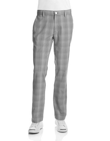 Calvin Klein Golf Checked Golf Pants-GREY-38X32  AT vintagedancer.com
