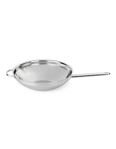 Demeyere Stainless Steel Flat-Bottom Wok with Helper Handle-NO COLOUR-One Size