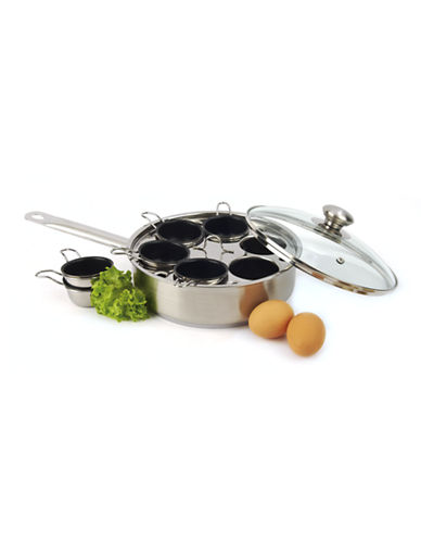 Demeyere Resto By Demeyere 1.75 L Egg Poacher with Lid-NO COLOUR-One Size