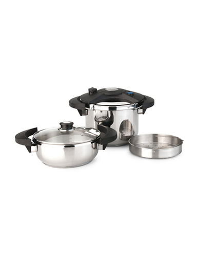 Berghoff Eclipse Five-Piece Pressure Cooker Set-STAINLESS STEEL-One Size