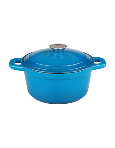 Berghoff Neo Cast Iron Round 7qt Covered Casserole-BLUE-One Size
