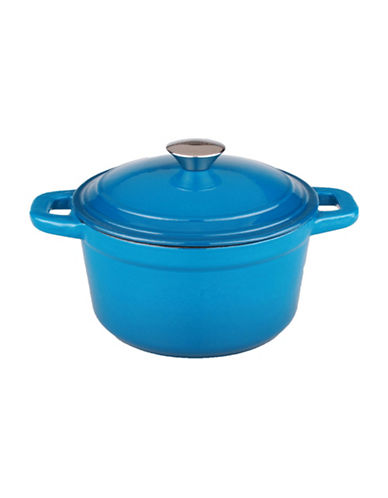 Berghoff Neo Cast Iron Round 5qt Covered Casserole-BLUE-One Size