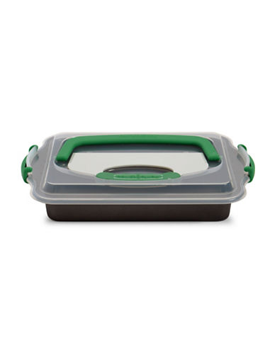 Berghoff PerfectSlice Covered Cake Pan with Tool-GRAY-One Size
