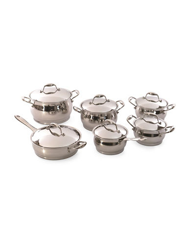 Berghoff Zeno 12-Piece Cookware Set-STAINLESS STEEL-One Size