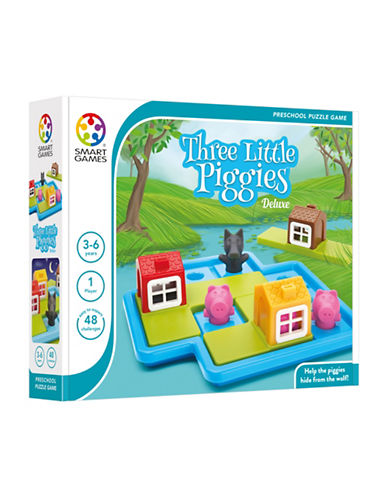 Smart Games Three Little Piggies Deluxe Puzzle Game-MULTI-One Size