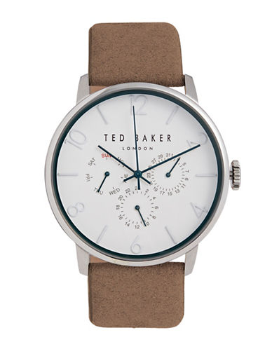 Ted Baker London Leather Strap Analog Watch 10032102-BROWN-One Size
