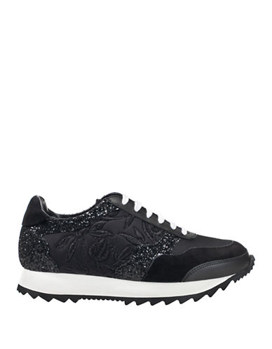 Markus Lupfer Sequined Leather Sneakers-BLACK MULTI-EUR 39/US 9