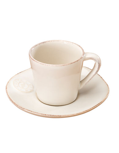 Costa Nova Espresso Cup and Saucer-WHITE-One Size