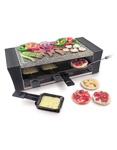 Swissmar Eight-Person Lacarno Pizza Raclette-BLACK-One Size