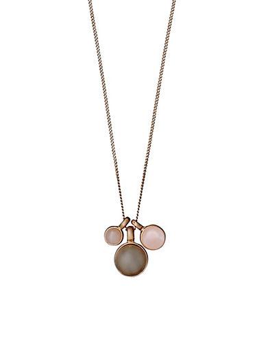 Pilgrim Elda Pendant Necklace-ROSE GOLD-One Size