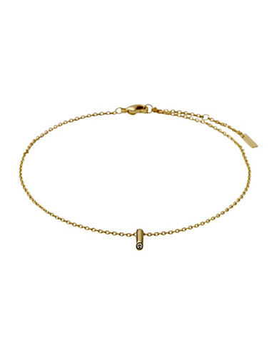 Pilgrim Gaia Czech Crystal Ankle Chain-GOLD-One Size
