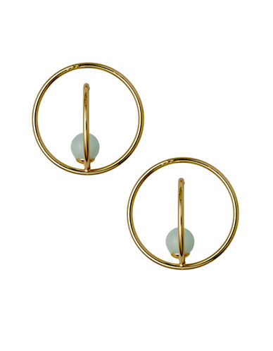 Pilgrim Additionnals Goldplated Hoop Earrings-GOLD-One Size