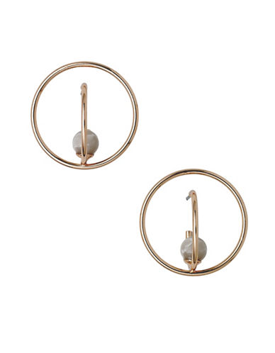 Pilgrim Additionnals Rose-Goldplated Hoop Earrings-ROSE GOLD-One Size