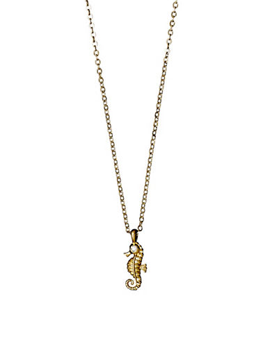 Pilgrim Kornelia Sea Horse Necklace-GOLD-One Size