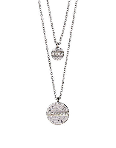 Pilgrim Grace Czech Crystal Necklace-SILVER-One Size