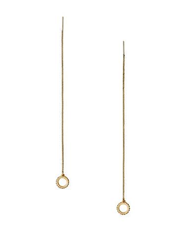 Pilgrim Ada Goldplated Pull-Thru Earrings-GOLD-One Size