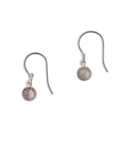 Pilgrim Aleja Rose Quartz Earrings-SILVER-One Size
