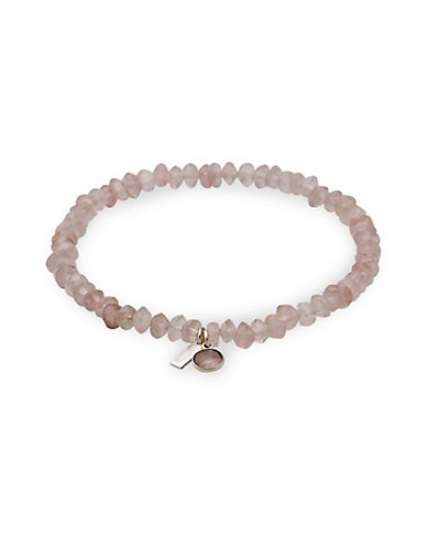 Pilgrim Aleja Rose Quartz Bracelet-SILVER-One Size