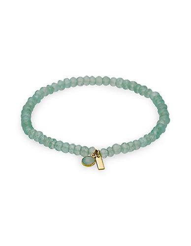 Pilgrim Aleja Blue Calcedonia Bracelet-GOLD-One Size