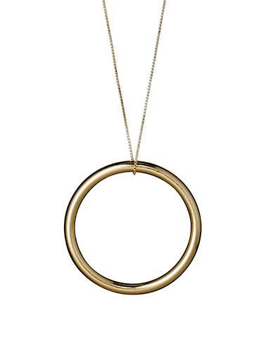 Pilgrim Dolag Gold Hoop Pendant Necklace-GOLD-One Size