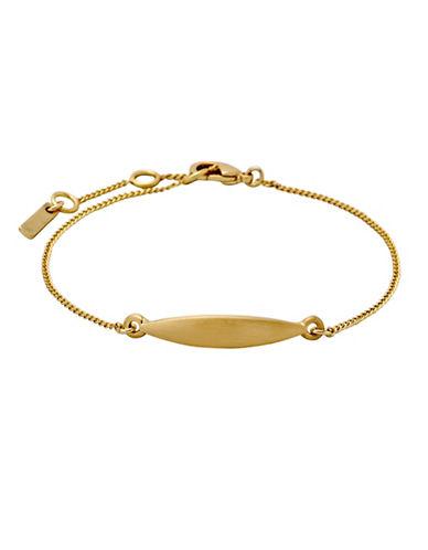 Pilgrim Leaf Pendant Chain Bracelet-GOLD-One Size