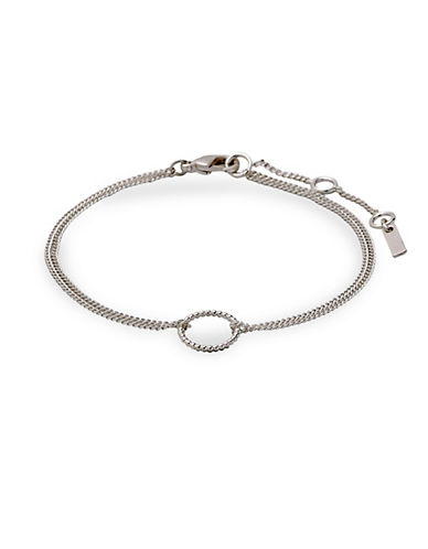 Pilgrim Double Chain Bracelet-SILVER PLATED-One Size