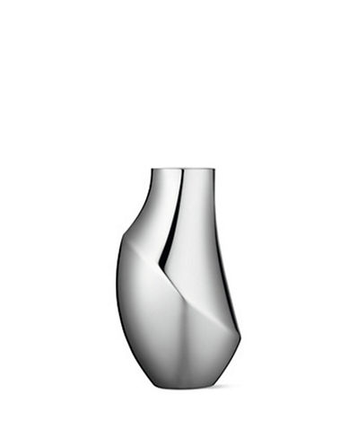 Georg Jensen Flora Vase Medium-STAINLESS STEEL-Medium