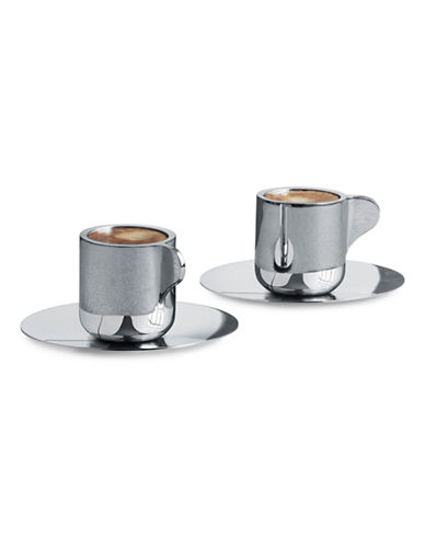 Georg Jensen Tea with Georg Espresso Cup and Saucer-STAINLESS STEEL-One Size