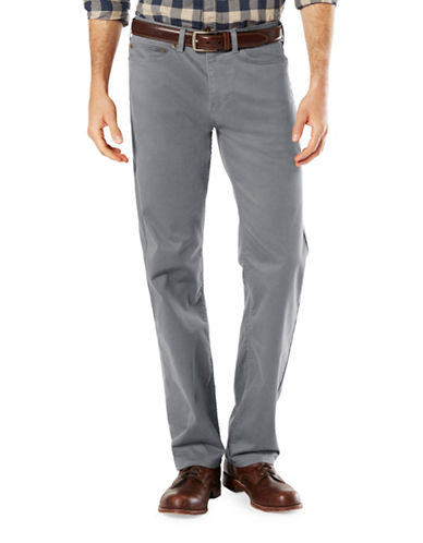 Dockers Five-Pocket Soft Stretch Straight Pants-GREY-30X32