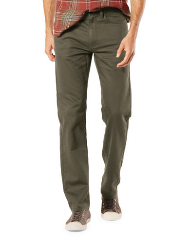 Dockers Five-Pocket Soft Stretch Straight Pants-GREEN-34X30