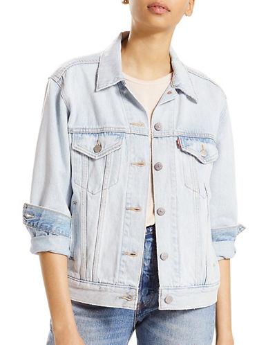 Levi'S Ex-Boyfriend Cotton Trucker Jacket-ARCTIC BLEACH-X-Large