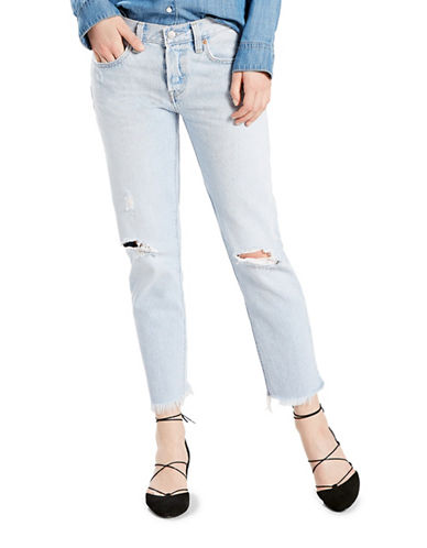 LeviS 501 Cropped Cotton Taper Jeans-BOWIE BLUE-27