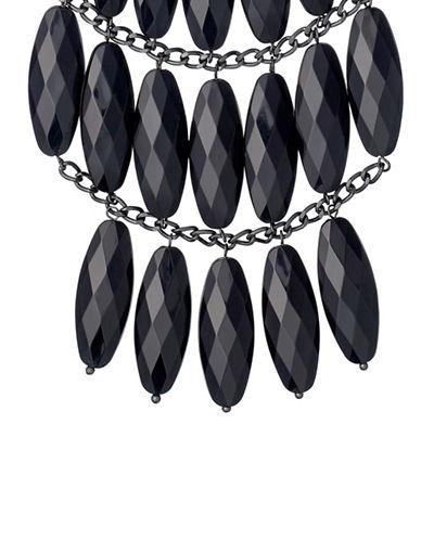 Pilgrim Vision Hematite Necklace-BLACK-One Size
