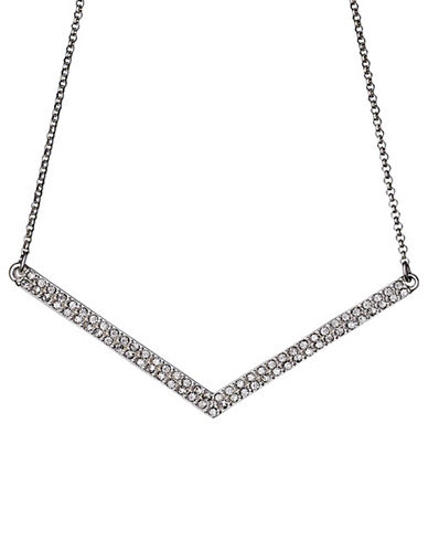 Pilgrim Relations Crystal and V-Necklace-SILVER-One Size