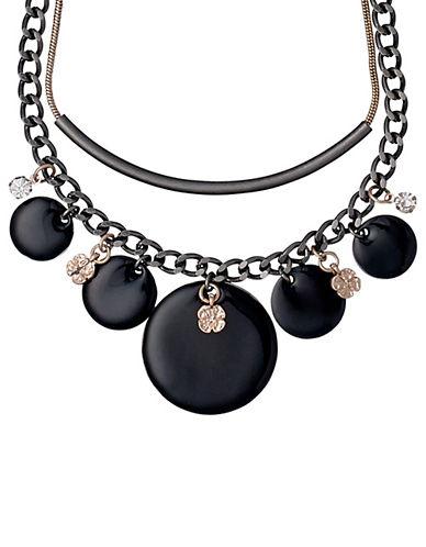 Pilgrim Equals Crystal Statement Necklace-BLACK-One Size