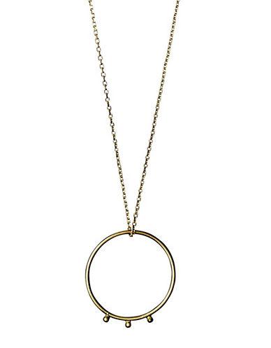 Pilgrim Cosmic Open Circle Pendant Necklace-SILVER-One Size