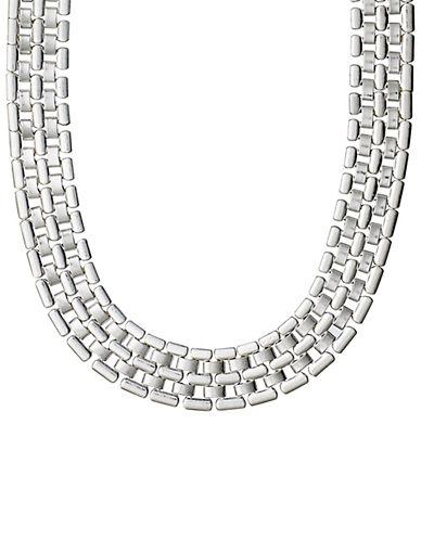 Pilgrim Brick Link Necklace-SILVER-One Size