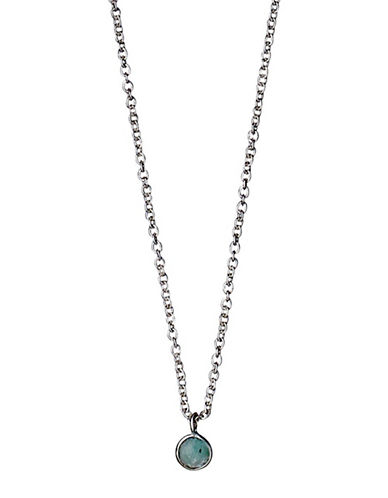 Pilgrim Engage Crystal Pendant and Necklace-SILVER-One Size