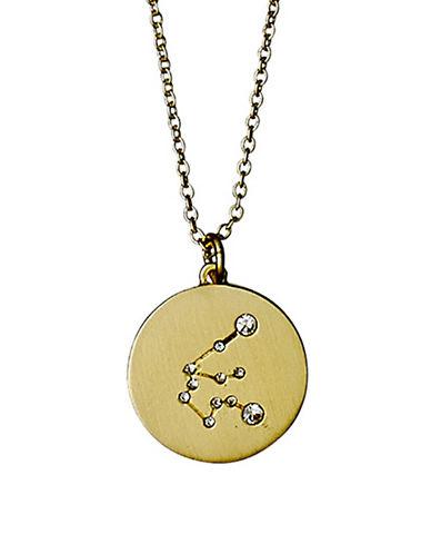 Pilgrim Starsign Aquarius Pendant Necklace-GOLD-One Size